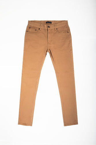 Slim Fit Stretch Twill Jeans - Burnt Khaki