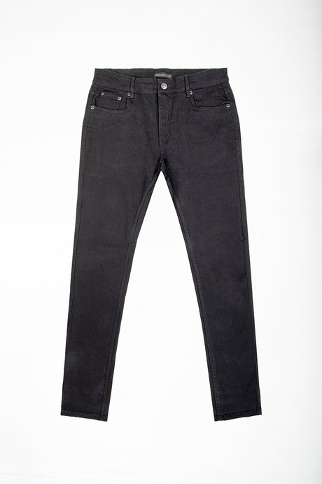 Slim Fit Stretch Twill Jeans - Jet Black