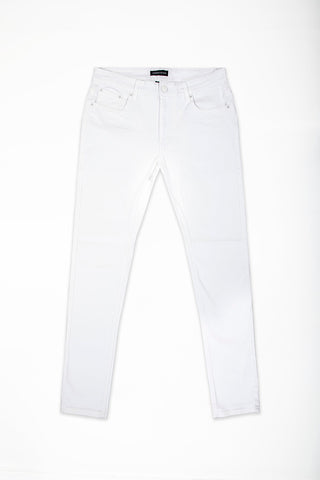 Slim Fit Stretch Twill Jeans - White