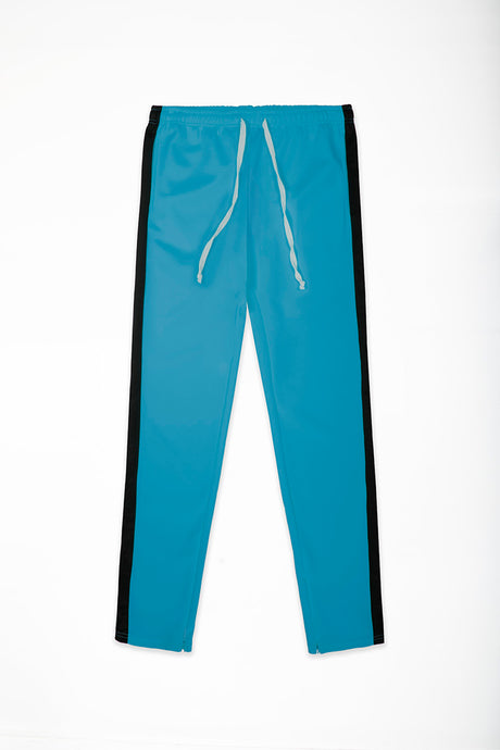 Track Pants Interlock - Aqua/Black