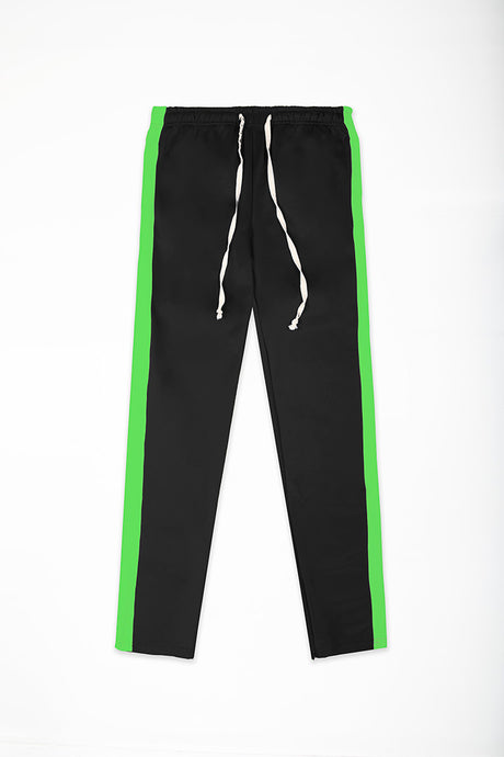 Track Pants Interlock - Black/Neon Green