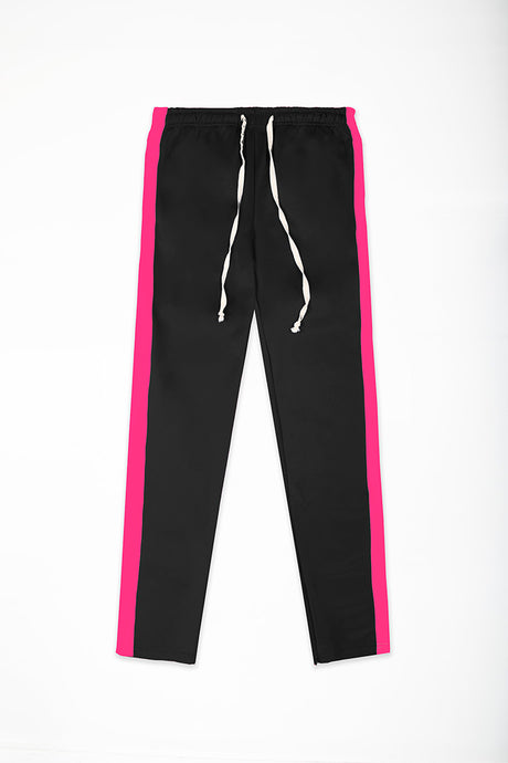 Track Pants Interlock - Black/Neon Pink