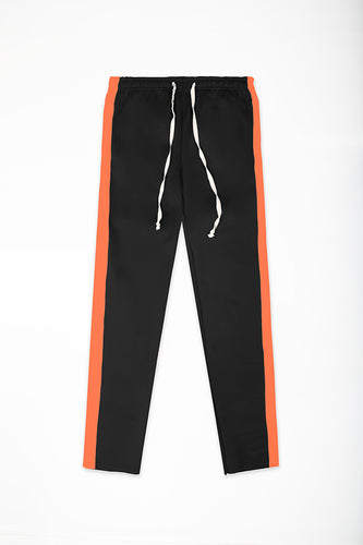 Track Pants Interlock - Black/Orange