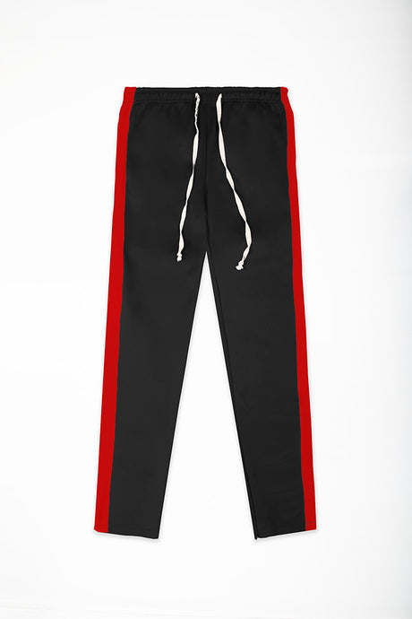 Track Pants Interlock - Black/Red