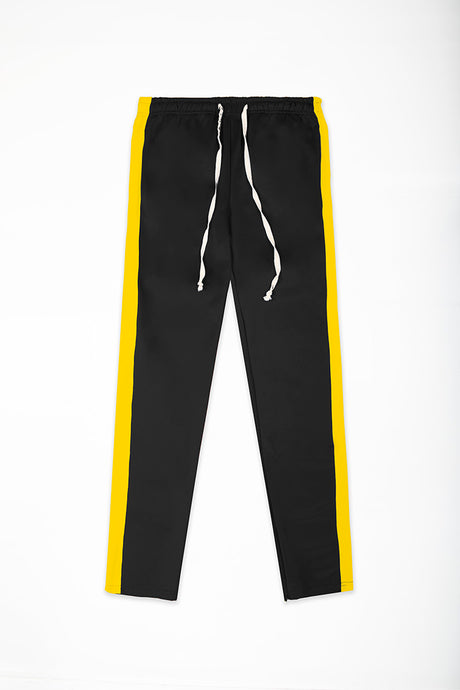 Track Pants Interlock - Black/Yellow