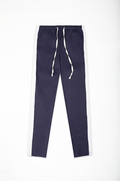Track Pants Interlock - Navy/White