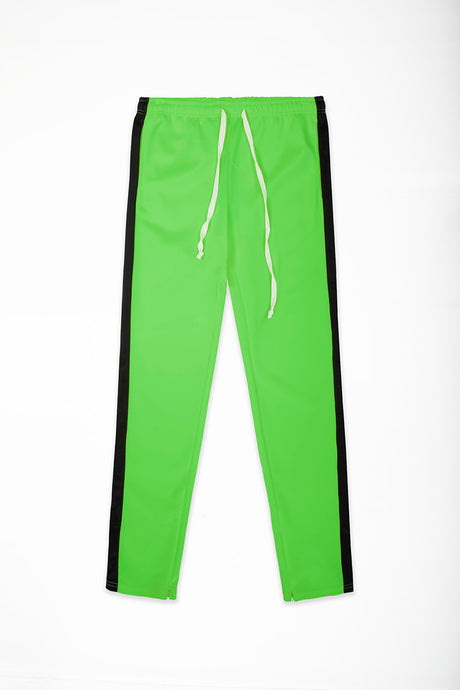 Track Pants Interlock - Neon Green/Black