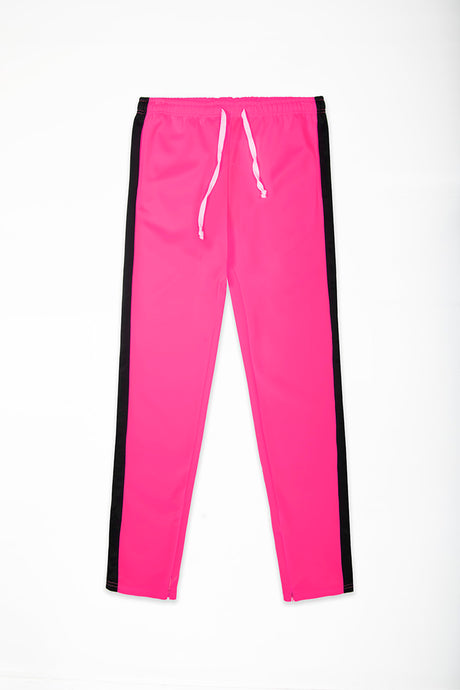 Track Pants Interlock - Neon Pink/Black