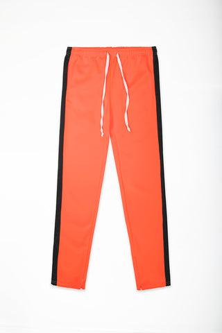 Track Pants Interlock - Neon Orange/Black