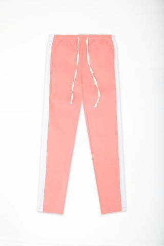 Track Pants Interlock - Pink/White