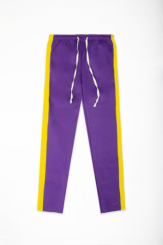 Track Pants Interlock - Purple/Yellow