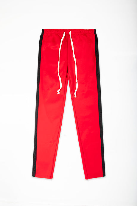 Track Pants Interlock - Red/Black