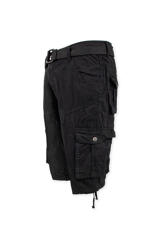 Vintage Washed Cargo Shorts Model 2 - Black