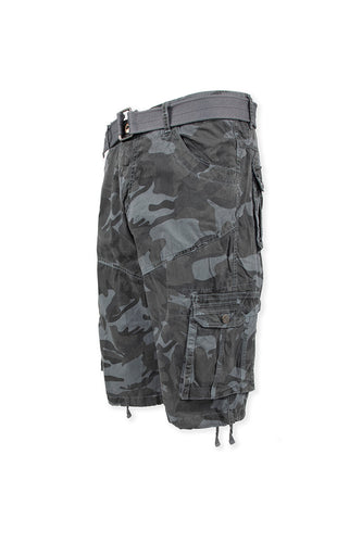 Vintage Washed Cargo Shorts Model 2 - Grey Camo