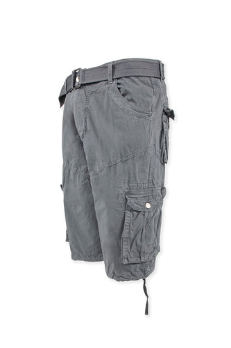 Vintage Washed Cargo Shorts Model 2 - Grey