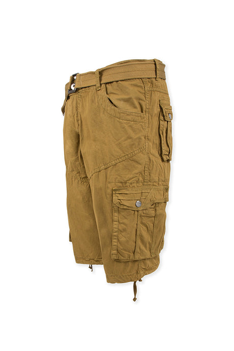 Vintage Washed Cargo Shorts Model 2 - Khaki