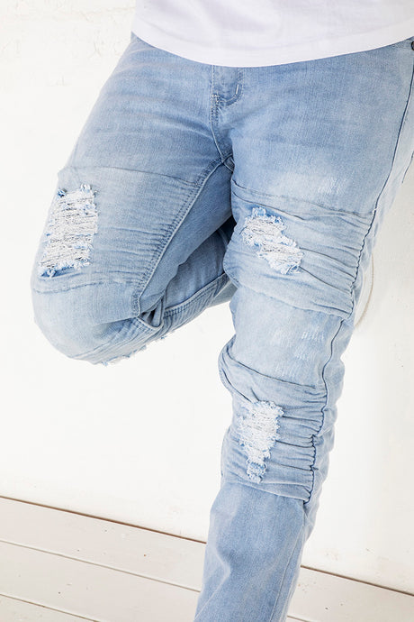 Moto Jeans - Skinny Fit - Ice Wash