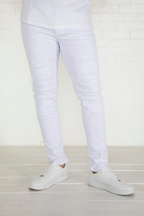 Moto Jeans - Skinny Fit - White