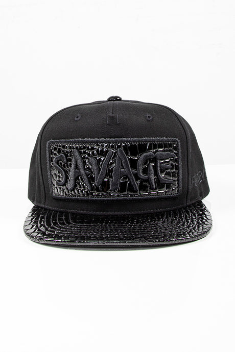 Snap Back Hat - Savage - Black