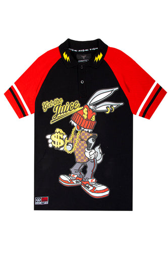 Raglan Bunny Polo - Black