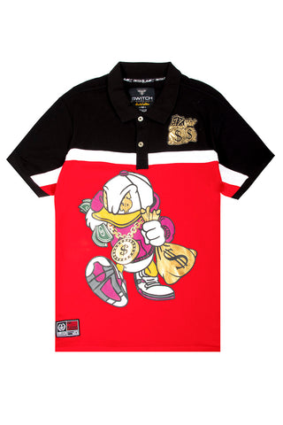 Colorblock Duck Polo - Red