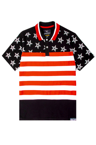 Stars and Stripes Polo - Black