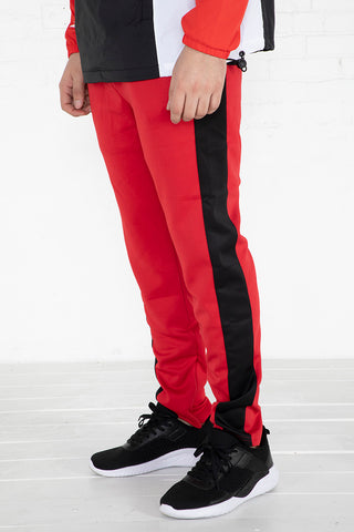 Track Pants - Red/Black