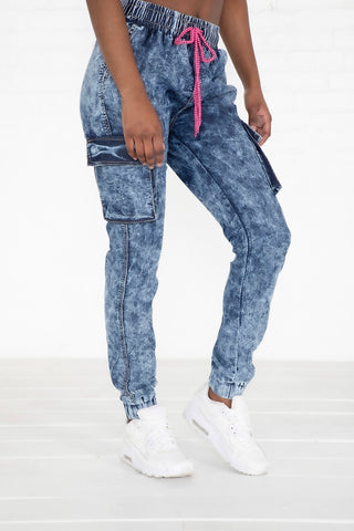 Pull On Denim Jogger - DK Acid