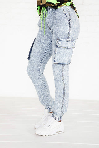 Pull On Denim Jogger - LT Acid