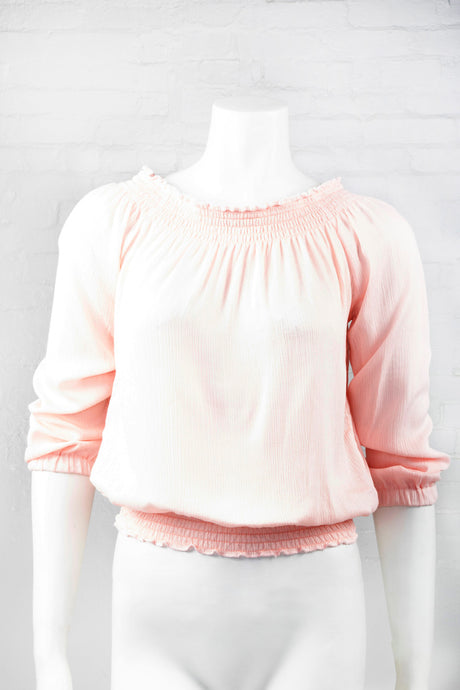 Boho Long Sleeve Flowing Top - Pink
