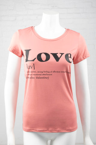 Short Sleeve Meaning of Love Top - Blush