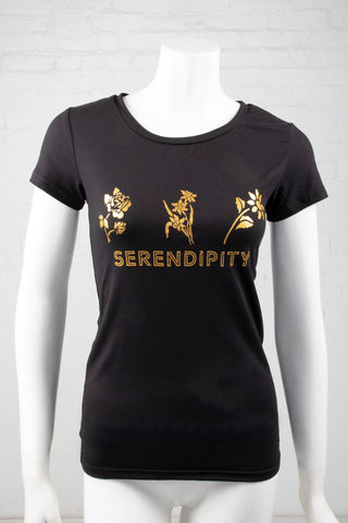 Short Sleeve Serendipity Top - Black