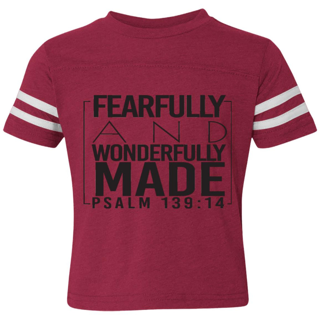 Psalm 139:14 Toddler Football Fine Jersey T-Shirt