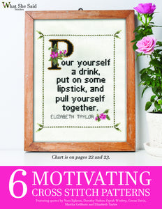 6 Motivating Cross Stitch Patterns