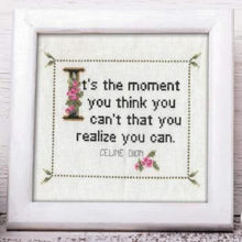 Celine Dion Quote Finished Cross Stitch Pattern-What She Said Stitches