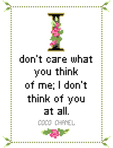 Coco Chanel No. 2-What She Said Stitches