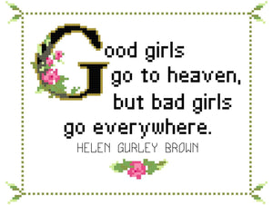Helen Gurley Brown-What She Said Stitches