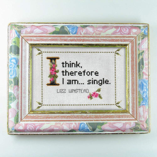 Lizz Winstead Quote Easy Cross Stitch Pattern: I Think, Therefore I am... Single. (Instant PDF Download)-What She Said Stitches
