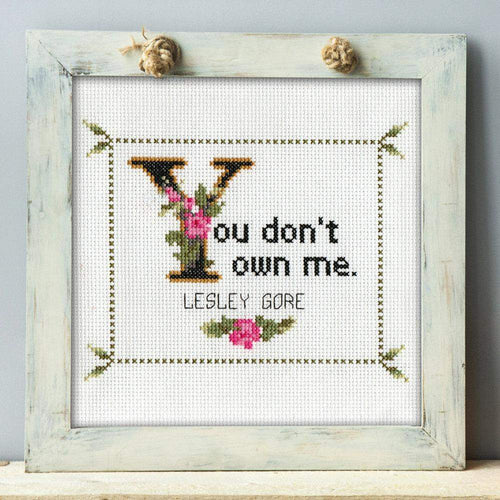 Lesley Gore Cross Stitch Pattern: You Don't Own Me. (Quick Stitch; Instant PDF Download)-What She Said Stitches