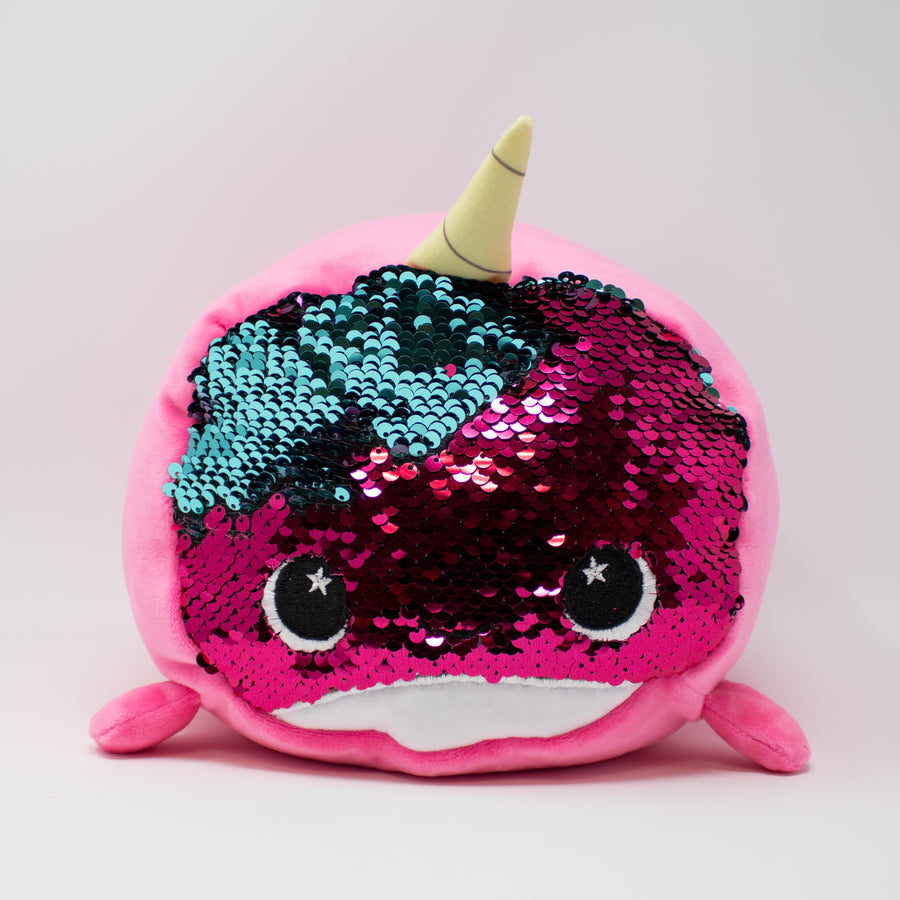 Bubblegum the Narwhal - Sequin Faced