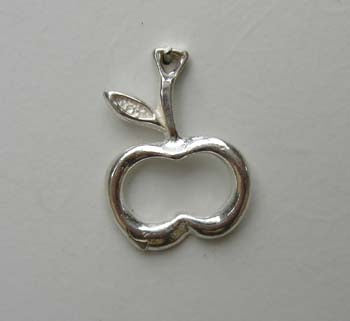 Apple outline Charm