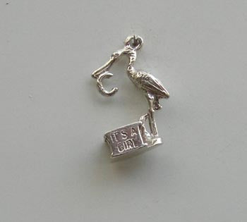 Stalk 'It?s a girl' Charm