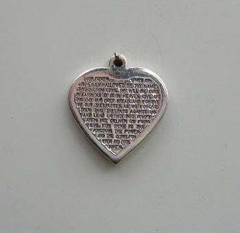 Lords Prayer  Heart Charm