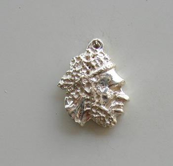 Aboriginal Man Head Charm