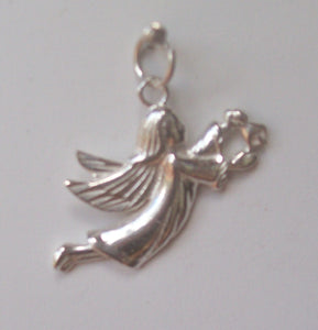 Angel with bell charm