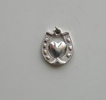 Horseshoe & Heart Charm