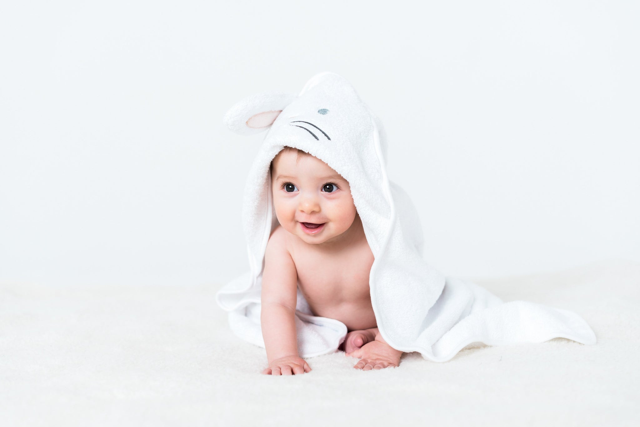 Towel - Bunny Hooded Towel with 3D Ears | Baby Accessories