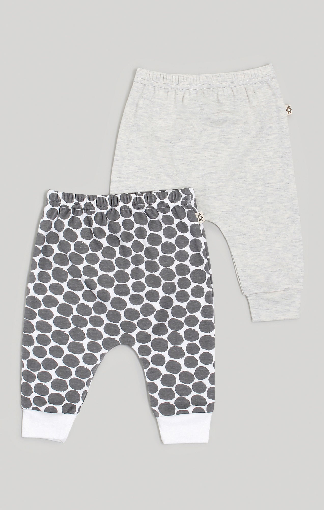 Baby Clothes | Boys 2 Harem Pants Heather Cream & Spot Pattern