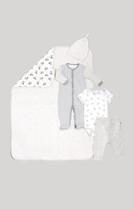 Baby Clothes | Pajama Gift Set - Neutral Baby Blanket, Sleeper & Pants