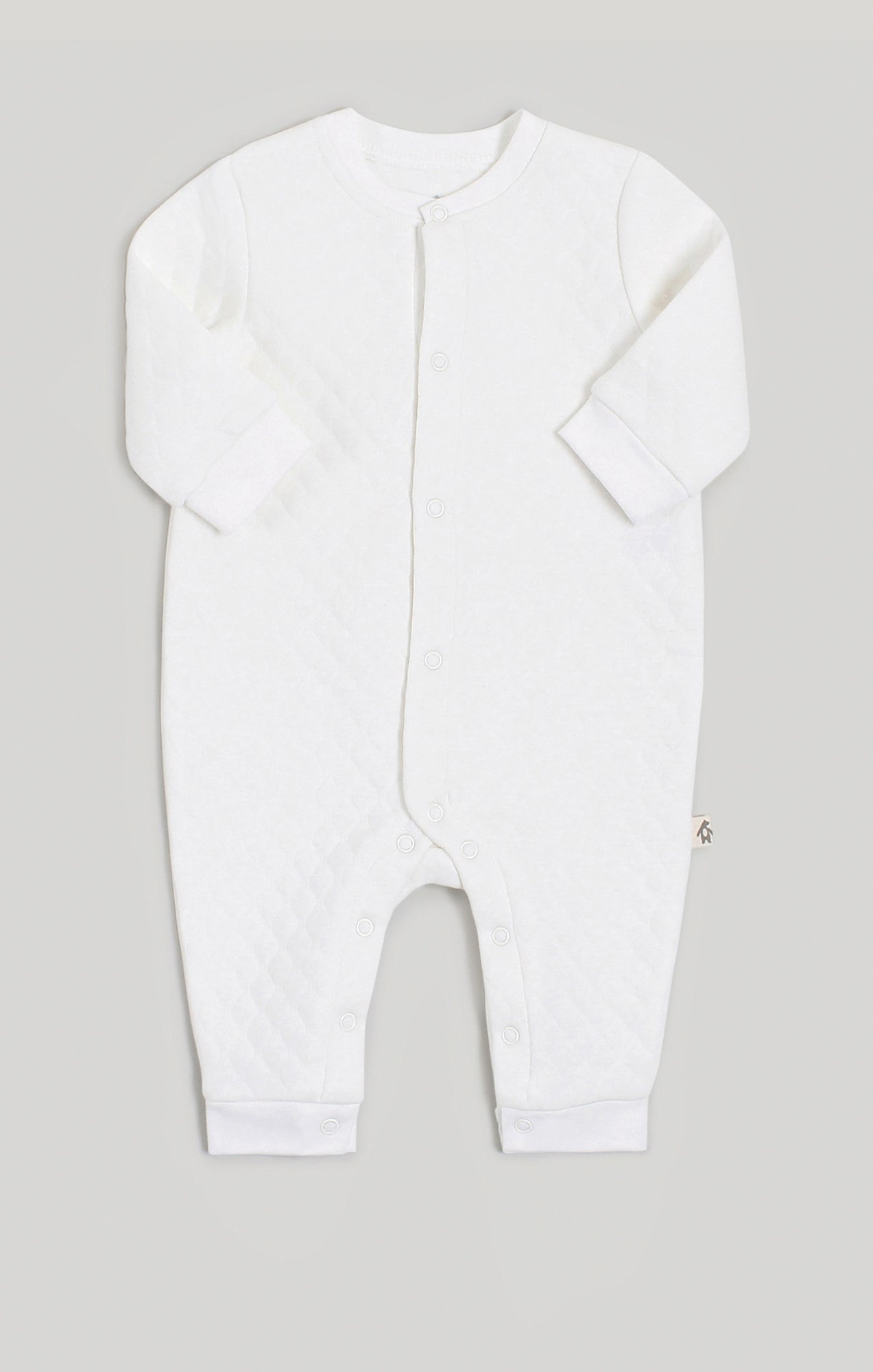 Baby Clothes | Quilted Cream Jumpsuit